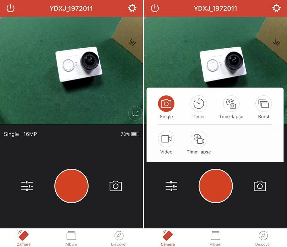 Настройка камеры Xiaomi Yi