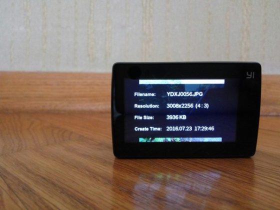 Экран камеры YI 4k
