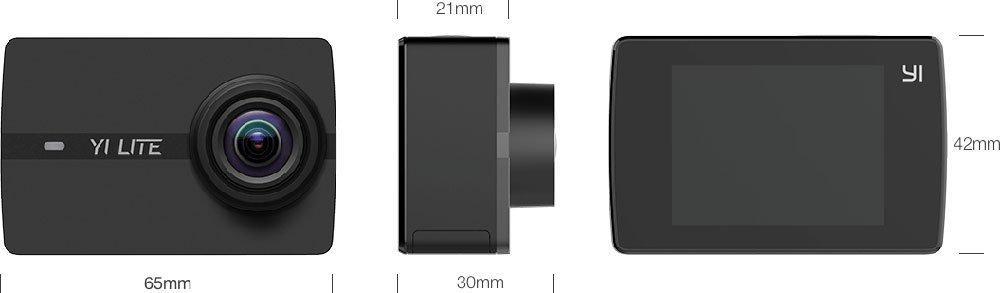 Размеры Xiaomi Yi Lite