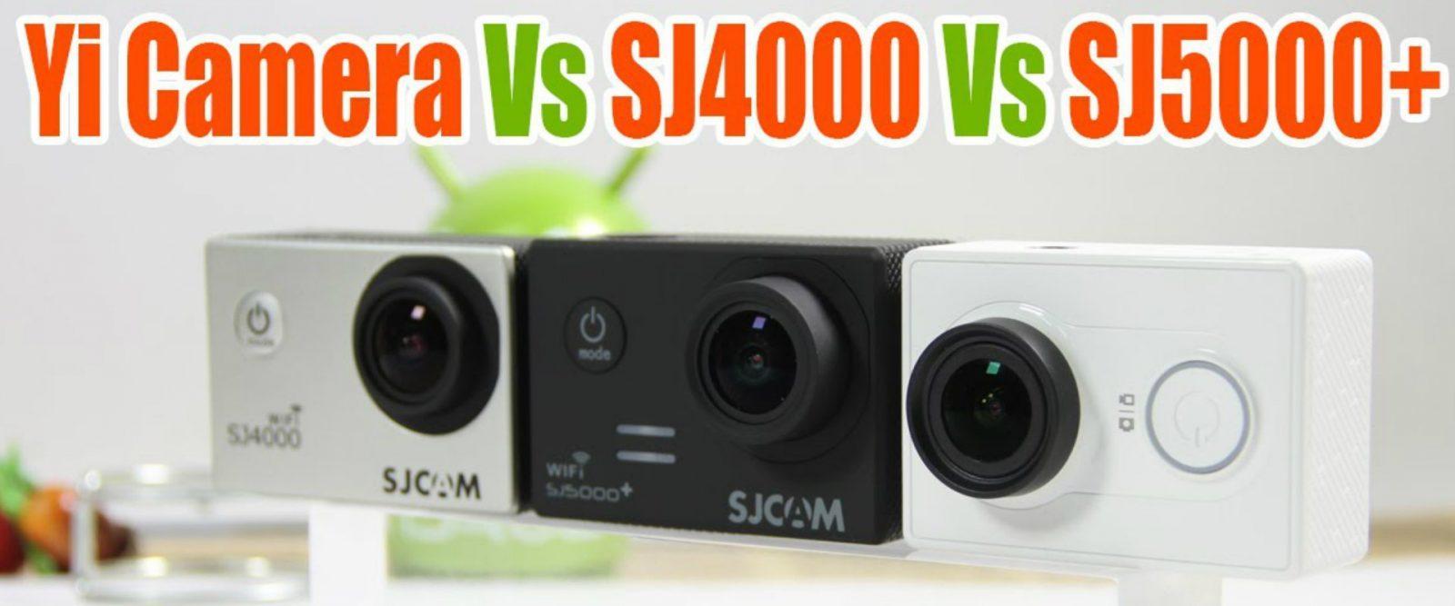 Сравнение камер SJ4000 VS Xiaomi Yi VS SJ5000 Plus