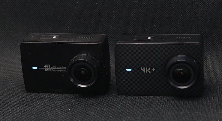 Сравнение экшен камер YI 4k