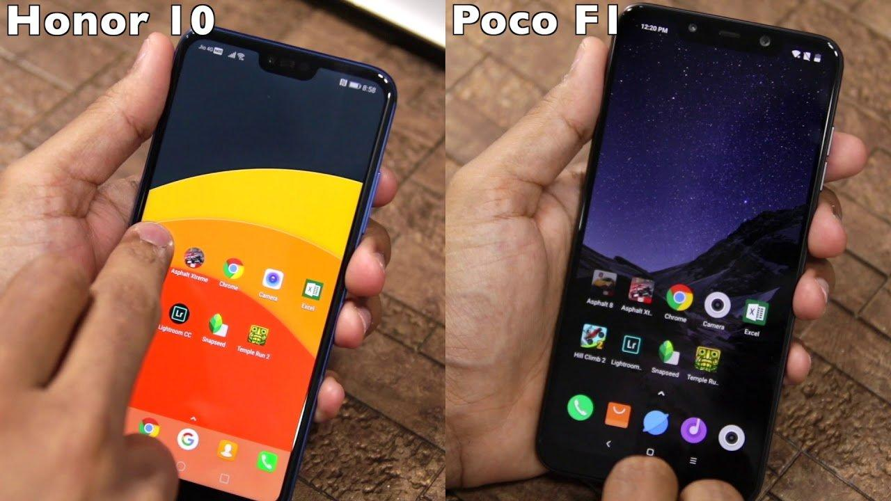 pocophone f1 vs honor 10